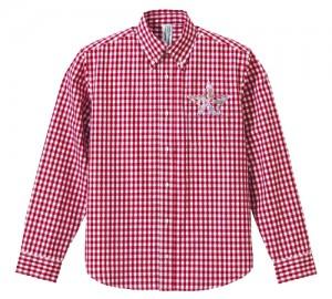 チェックシャツ赤切取