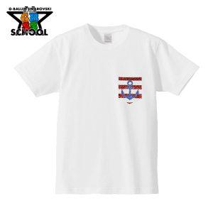 ⚓とボーダーを2色のスワロで表現した、3DデコTシャツ