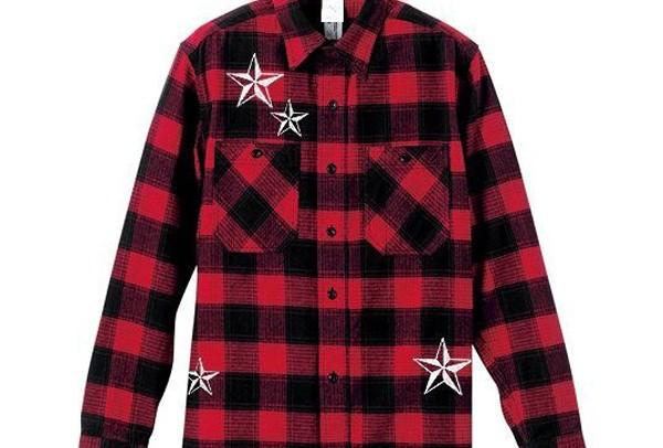 ネルシャツ スタースワロ/ホットフィックスコース 雑誌の衣装提供でも取材された人気アイテムです☆