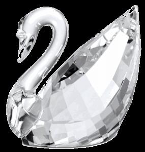 スワロフスキーロゴ/白鳥