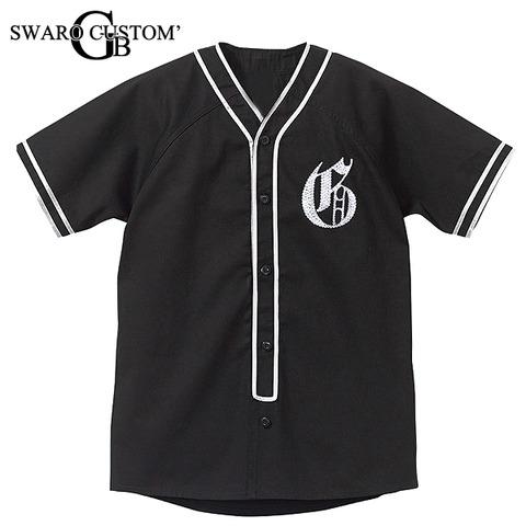流行のベースボールシャツをイニシャルスワロ製作しました!GBSS直営店でも販売中です