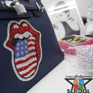 リップタン国旗 レザーデコバッグ