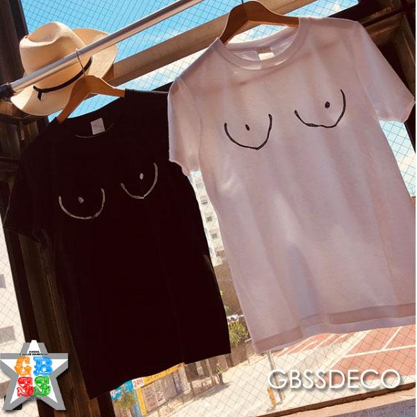 おっぱいTシャツデコ